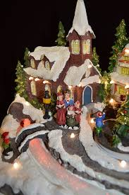 animated musical light up xmas village scene color changing led
