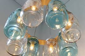 How To Mason Jar Chandelier Garden Lighting Outdoor Light Fixtures Home Improvement Ideas