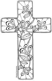 printable easter bookmarks to colour floral cross to print and colour then use as you want bookmark