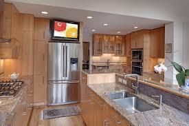 tv in kitchen ideas flat screen tv kitchen kitchen design ideas