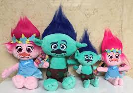 new movie trolls cute cartoon figures plush toy 23cm poppy branch