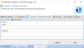 how do you send a telegram task messaging telegram send bot message