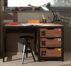 bureau ado design meuble bureau style industriel marron et noir chambre d adolescent