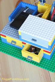 Build A Charging Station Build A Lego Desk Organizer With Working Drawers