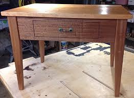 figured sapele u0026 cherry bedside table esps llc