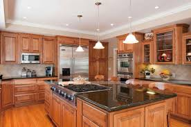 Kitchen Backsplash Ideas With Oak Cabinets Unique Tile Backsplash Kitchen Oak Cabinets W Granite Counters And