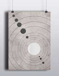 Home Decor Wall Posters Science Poster Solar System Minimalist Home Decor Wall Art Print