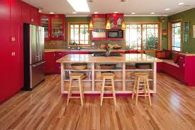 red painted kitchen cabinets kitchen traditional with bookshelves