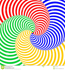design colorful swirl circular illusion background illustration