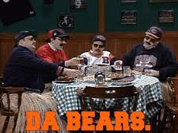 Da Bears Meme - a bulldog scares off two bears aww
