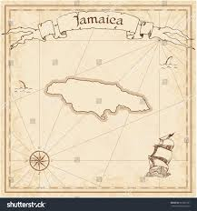 Map Of Kingston Jamaica Jamaica Old Treasure Map Sepia Engraved Stock Vector 367621961
