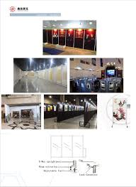 aluminum frame stand for display art panel display stand from china