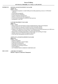 sle of resume land development manager resume sles velvet