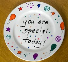 celebration plates make your own celebration plate