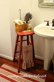 southern bathroom ideas tricycle vintage stool by savvy southern style bathroom