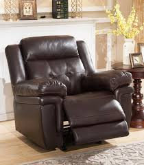 recliners carly leather rocker recliner