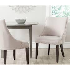 safavieh afton light blue cotton linen side chair set of 2