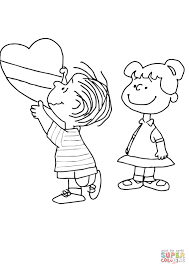 valentines color page charlie brown valentine coloring page free printable coloring pages