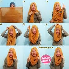 tutorial hijab segi empat paris simple cara memakai jilbab segi empat simple untuk sehari hari fashion