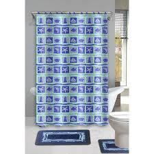 dolphin 15 piece ocean bathroom accessories set rugs sower curtain