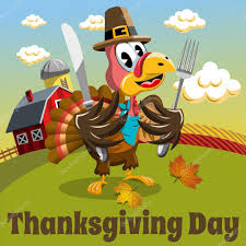 thanksgiving day background square pilgrim turkey eat fork and knife