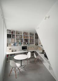 bibliothèque avec bureau intégré bibliothèque murale design gain d espace et esthétique