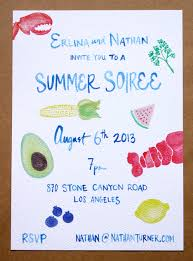 Party Invite Cards Watercolored Summer Party Invitation Menu Bar Card And Place