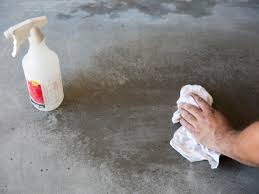 Staining Concrete Basement Floor How To Apply An Acid Stain Look To Concrete Flooring How Tos Diy