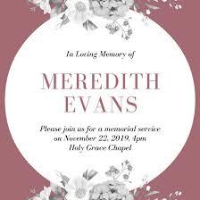 Funeral Service Invitation Funeral Invitation Templates Canva