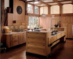 kitchen island rustic furniture rustic kitchen design with l shaped brown unfinished