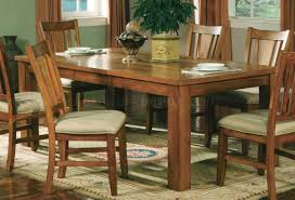 Informal Dining Room Oak Finish Casual Dining Room Table W Optional Chairs