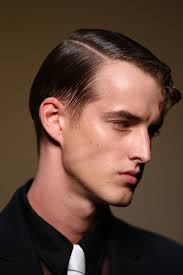 hairstyles for front cowlicks men s slick hair with front curl