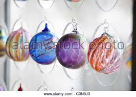 blown glass ornaments in the museum store museum of glass