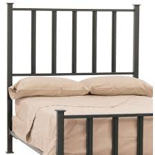 stylish and elegant wrought iron king bed all also black headboard