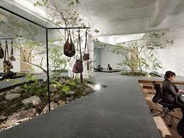 modern eco friendly office design with creative indoor garden