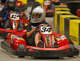 indoor karting with travis pastrana motorsports in photography