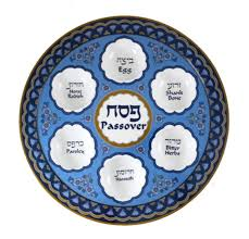 what is on a passover seder plate buy melamine floral blue passover seder plate israel catalog