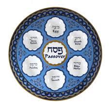 passover seder plates buy melamine floral blue passover seder plate israel catalog