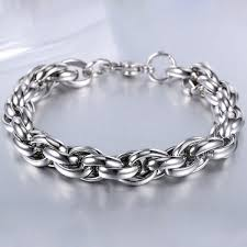 stainless steel chain bracelet images High quality stainless steel chain bracelet in silver jpg