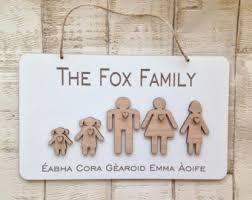 family plaque etsy