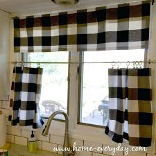 Black Check Curtains Valance And Black Valance Large Size Of Coffee Check