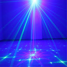 aucd mini remote 18 pattern gb laser projector lights 3w blue led