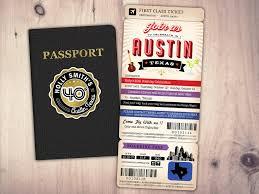 Texas travel passport images Passport and ticket birthday invitation travel birthday party jpg