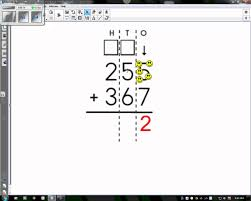 touchmath addition 3 digit with regrouping youtube