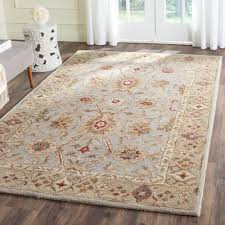 Home Depot Wool Area Rugs Safavieh Antiquity Grey Beige Sage 6 Ft X 9 Ft Area Rug At816b 6