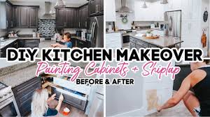 how to paint kitchen cabinets using liquid sandpaper painting my kitchen cabinets diy farmhouse kitchen makeover on a budget no sanding