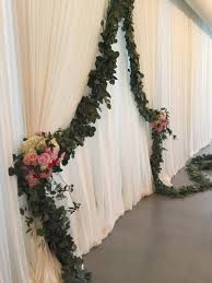 wedding backdrop garland our flowers chicago florist and event design exquisite