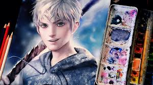 digital art in watercolor jack frost by sakimichan part 2