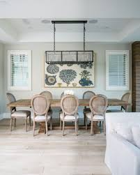 Coastal Dining Room Table by Beach House Tour Newport Beach Home