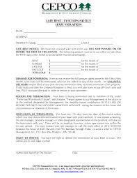 doc 585635 late rent notice template u2013 late rent notice 15 free